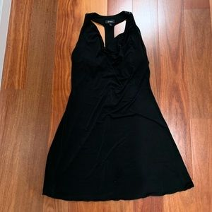 Sexy BWeartoo black t back dress with blk sequins